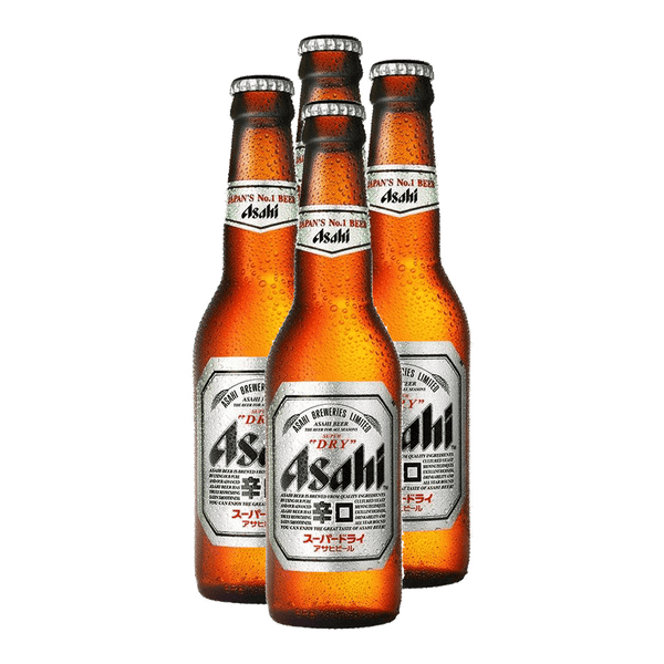 Asahi Super Dry 330ml Bundle of 4 Bottles - Boozy.ph