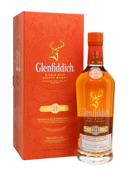 Glenfiddich 21yo Reserva Rum Cask Finish 700ml Scotch Whisky Scotland Single Malt