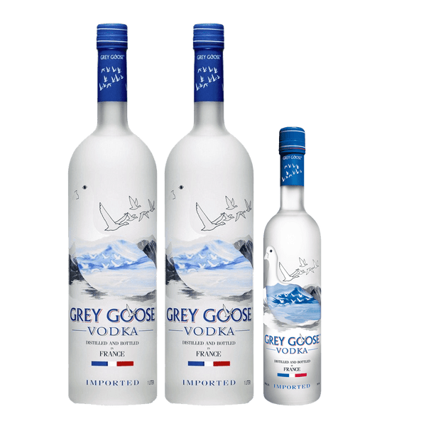 2 Grey Goose 750ml + FREE Grey Goose 200ml