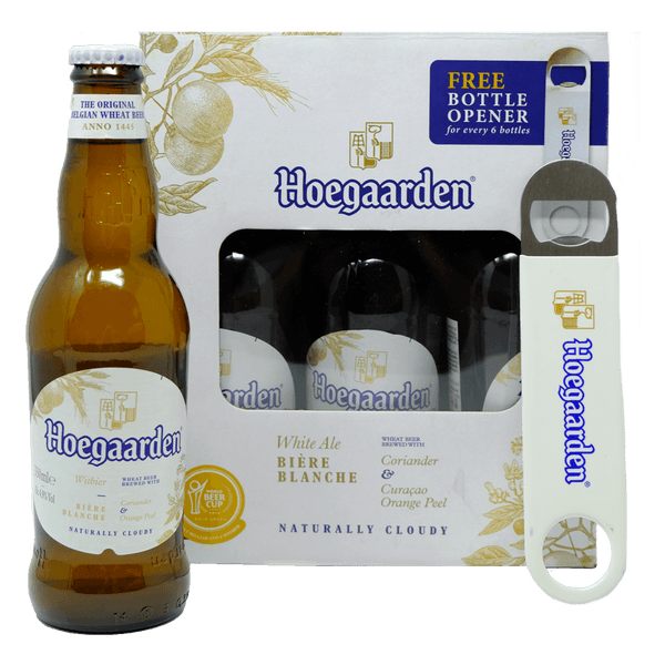 Hoegaarden White Six Pack with Free Bottle Opener Beer