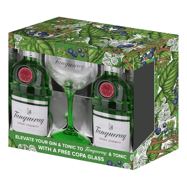 Tanqueray London Dry Gin 750ml with Free Copa Glass - Boozy.ph
