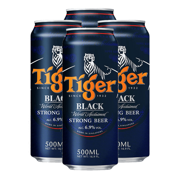 Tiger Black 500ml Bundle of 4 Cans - Boozy.ph
