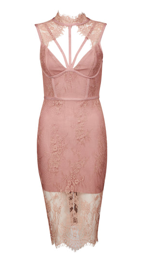 FLORENCE - blush bandage dress