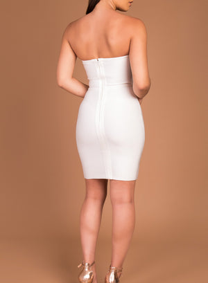 ERIN - white bandage dress