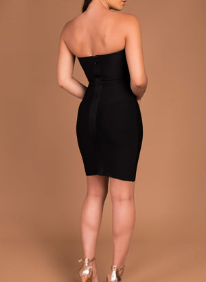 ERIN - black bandage dress