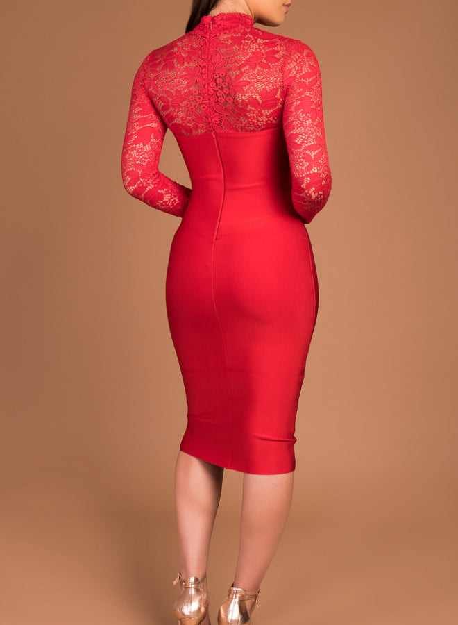 LILY red bandage dress