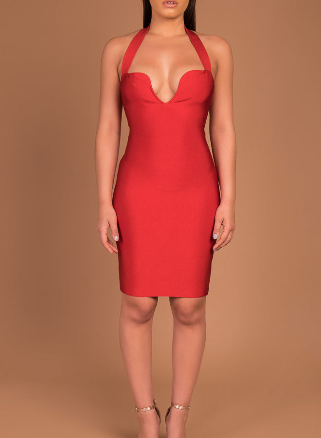 CHLOE - red bandage dress