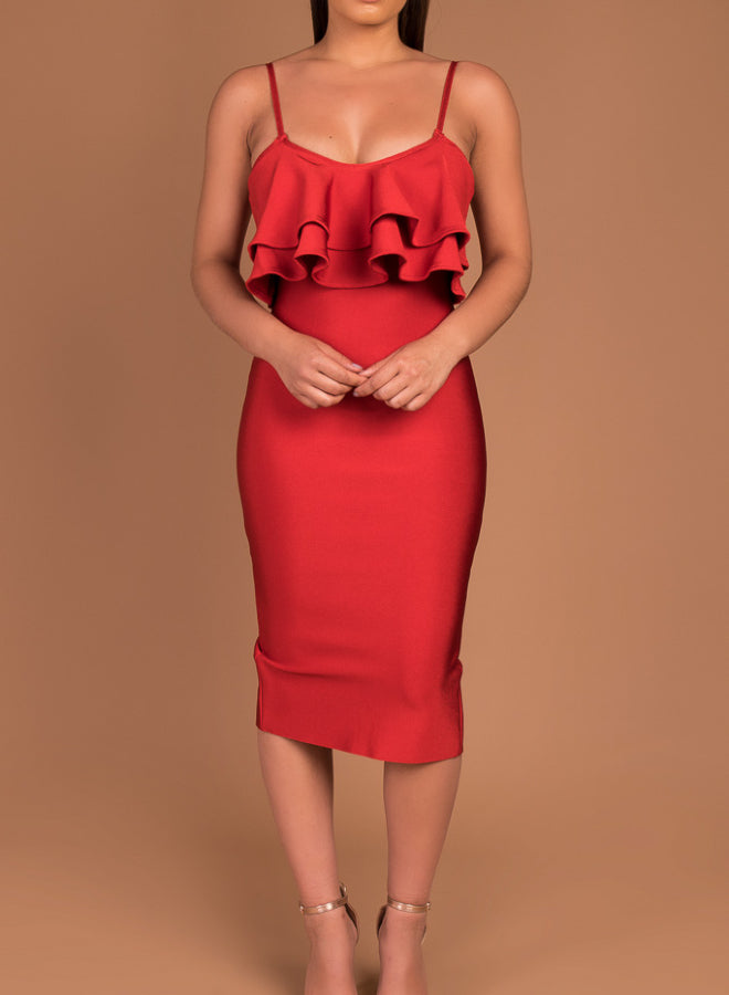 CHARLOTTE - red bandage dress