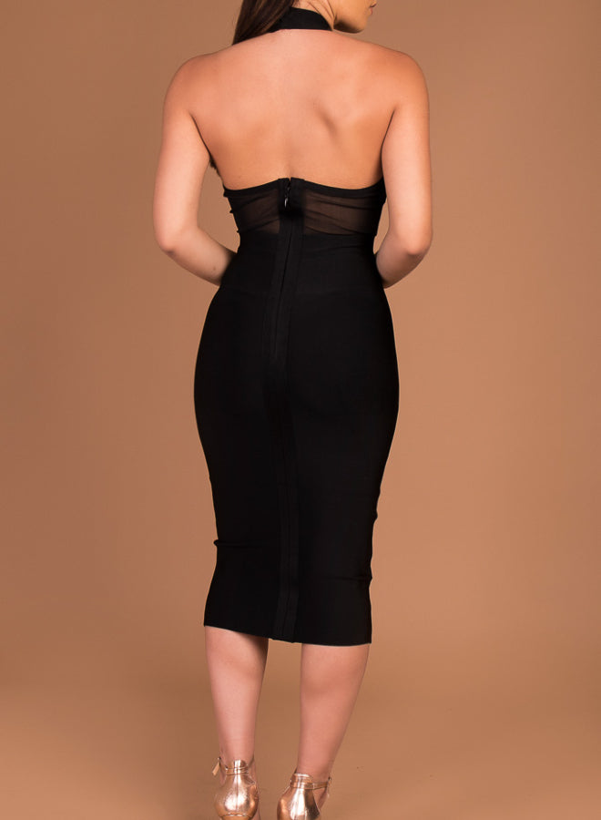 FERNE - black bandage dress