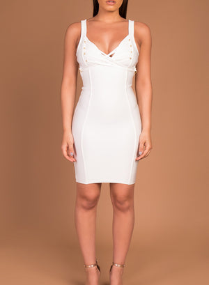 DOLLY - white bandage dress