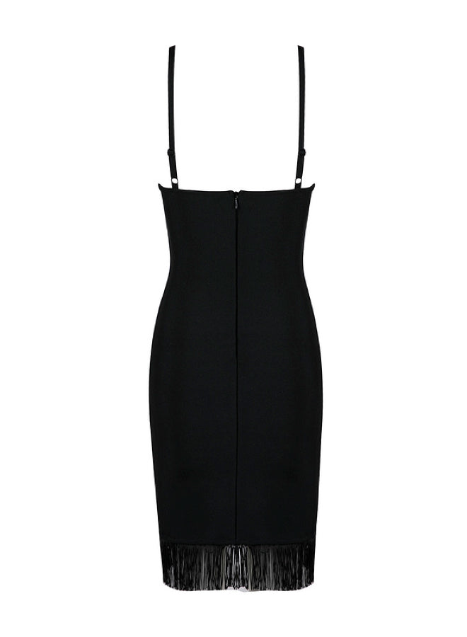 TAMMY - black bandage dress