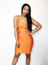 SUMA - Orange bandage dress