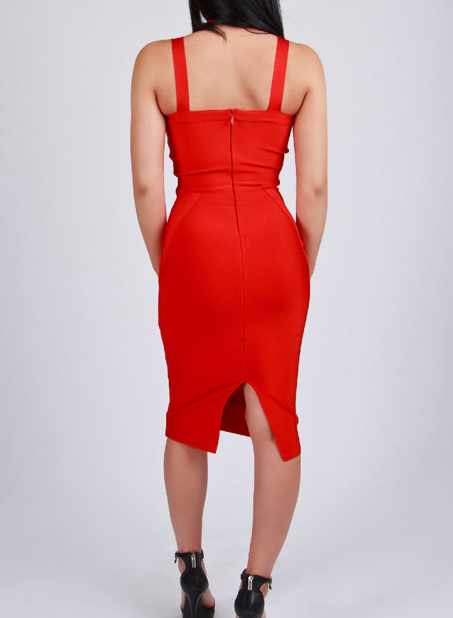 RUBY red bandage dress