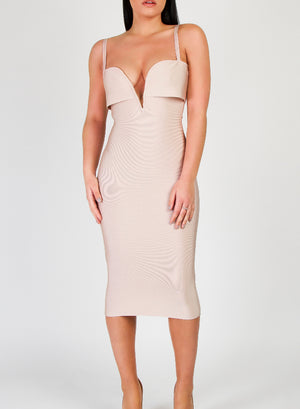 CARLA - Nude Bandage Dress