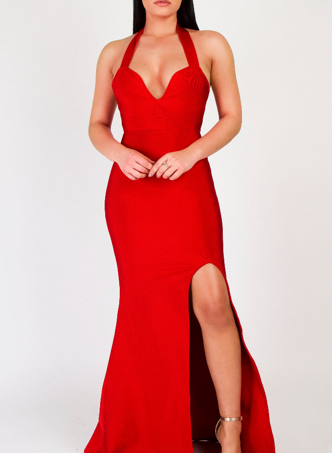 GALIA - red bandage dress