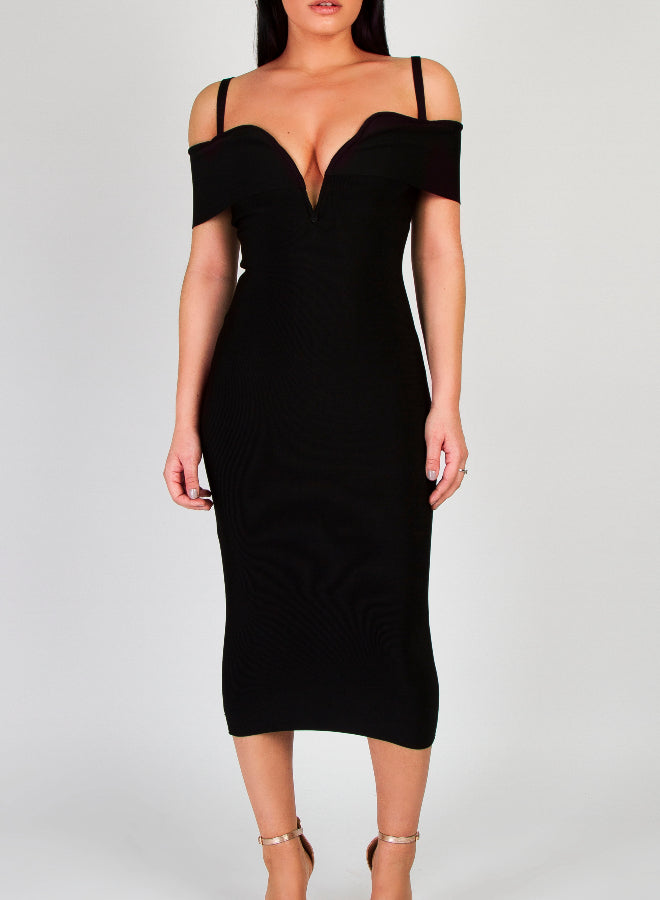 CARLA - Black Bandage Dress