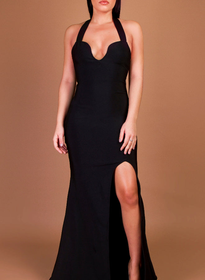 GALIA - black bandage dress