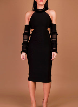 MIA - black bandage dress
