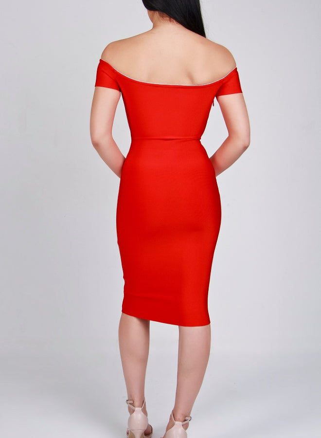 SORAYA red bandage dress