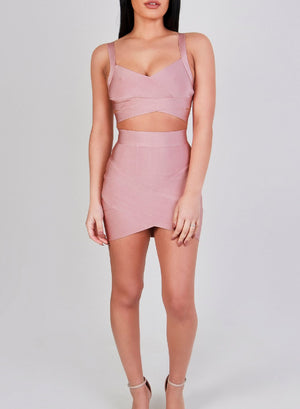 BIANCA - Blush Bandage Skirt