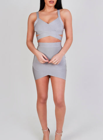 BIANCA GREY SKIRT
