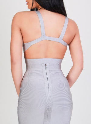 BIANCA - Grey Bandage Skirt