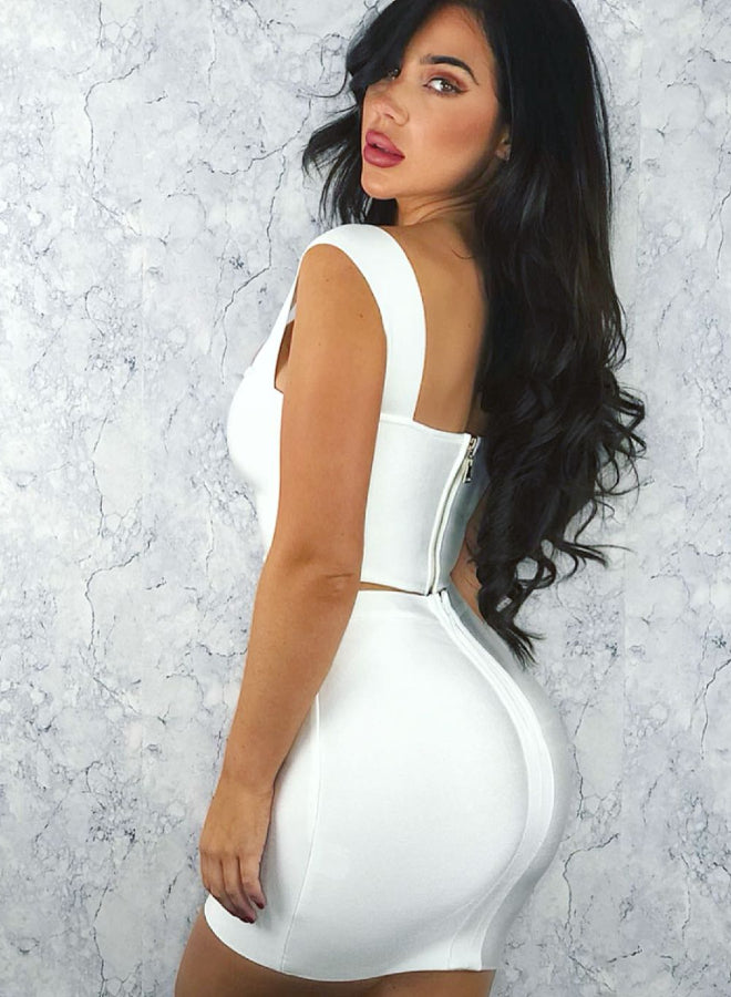 REIGN white bandage two piece