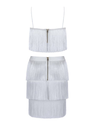 MEGHAN - white bandage two piece