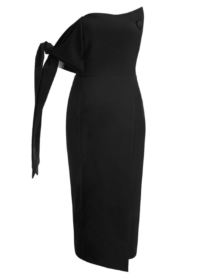 SHAYA - Black Bandeau Dress