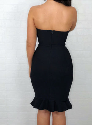 OTTIE - black bandage dress