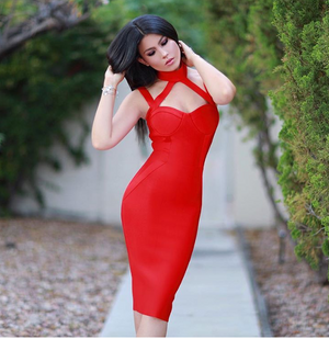 RUBY - red bandage dress