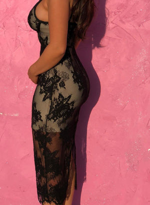 MANDI - Black Bandage Dress