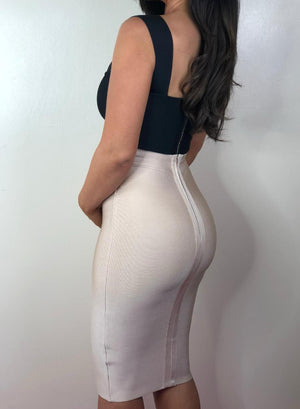 HOLLIE -  nude bandage skirt