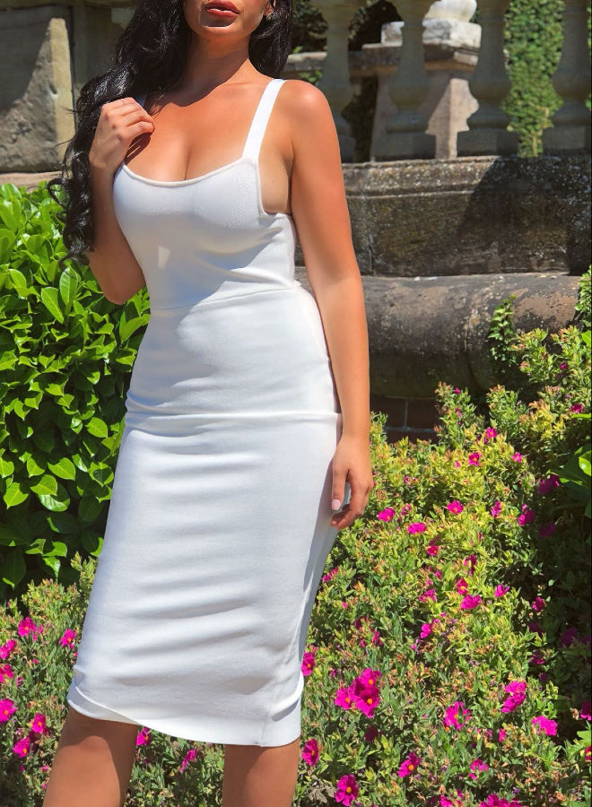 ROMA - white bandage dress