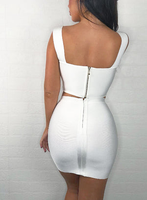 REIGN - white bandage two piece
