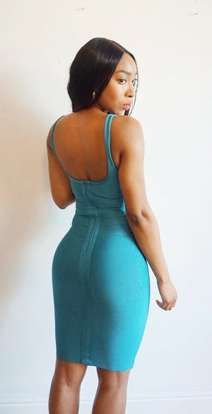SUMA - Turquoise bandage dress