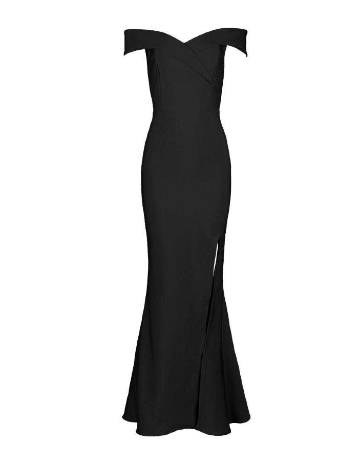BELLE - Black Bandage Maxi Dress