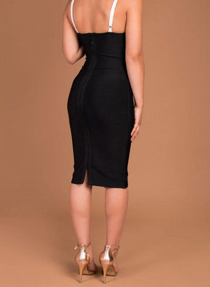 EFFIE - black bandage dress