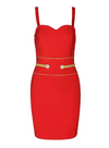 FALLONI - Red Bandage Dress
