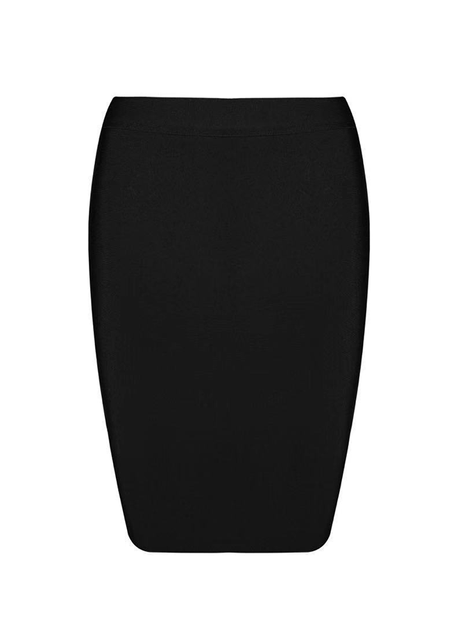 HOLLIE - Black Bandage Skirt