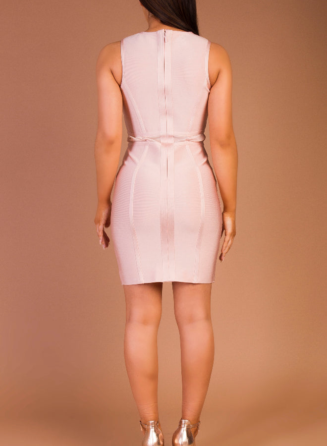 CHRISTIE - blush bandage dress