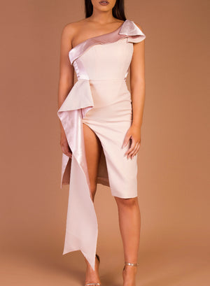 VIENNA - nude sash dress