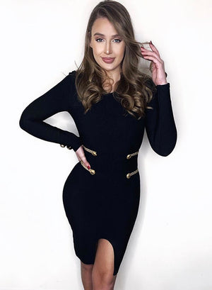 MILI - Black Bandage Dress