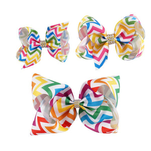 1 Set (3pcs) - 7 inch, 4 inch, 3.5 inch - Colorful Handmade Ribbon Hair Bow