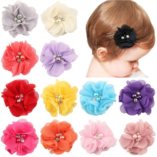 Cute Pearl Diamond Headdress Flower Hair Accessories - 9pcs/set