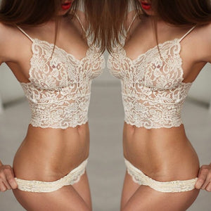 2017 Hot Sexy Lingerie Women White red Black Lace Stain Intimate Sleepwear Deep V-Neck Back Dress Nightwear bra+set my luv family
