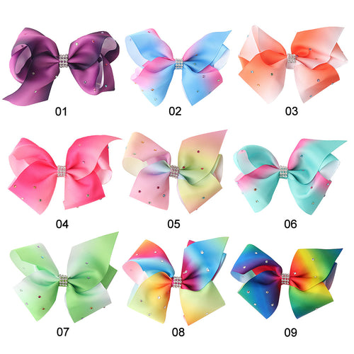 2017 Newest 12cm Big Bowknot Hair Pins with Diamond (9 patterns)