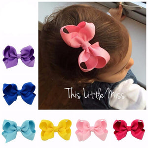 "20pcs/lot Grosgrain Ribbon 3"" Hair Bows"