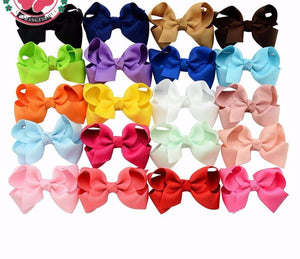 "40pcs/lot Grosgrain Ribbon 3"" Hair Bows"