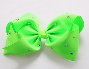 Jojo Siwa Sharp Green Diamanté Hair Bow - BIG and Fun Color